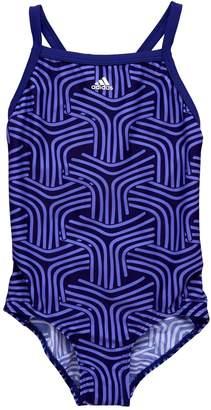 adidas Older Girl Patterned Swimsuit