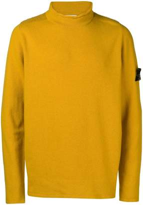 Stone Island rolled edge turtleneck sweater