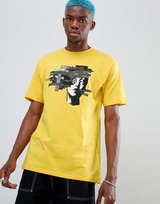 Volcom noa noise head print t-shirt in yellow