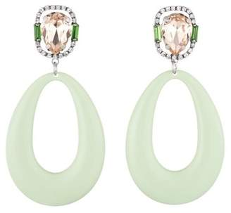 Dannijo Elvis Prong Set Crystal & Oval Drop Earrings