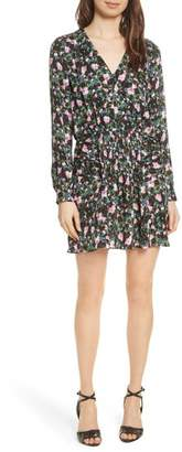 Veronica Beard Naomi Floral Print Silk Dress