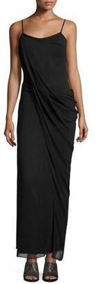 Rag & Bone Irina Sleeveless Stretch Chiffon Maxi Dress, Black