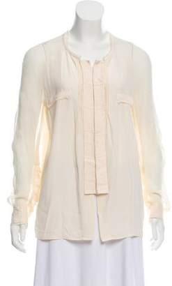 Barbara Bui Long Sleeve Silk Top