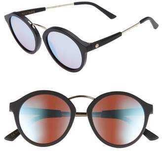 ELECTRIC Mix Tape 52mm Mirrored Round Sunglasses