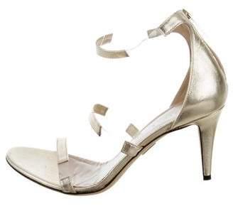 Tamara Mellon Metallic PVC-Trimmed Sandals