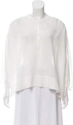 Nili Lotan Striped Long Sleeve Blouse