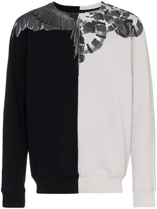 Marcelo Burlon County of Milan snakes and wings sweatshirt