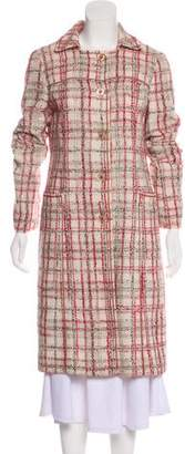 Philosophy di Alberta Ferretti Tweed Long Coat