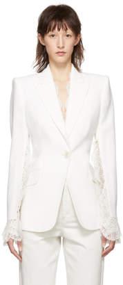 Alexander McQueen Ivory Slash Sleeve Blazer