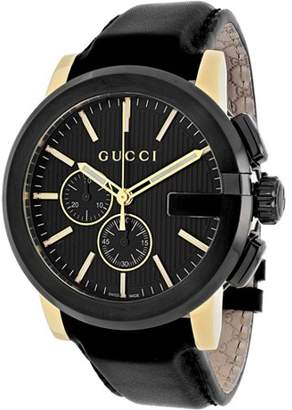 89f7bf2585e Gucci G-Chrono Chronograph Black Dial Mens Watch YA101203