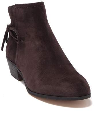 Splendid Holmes Suede Bow Almond Toe Ankle Boot