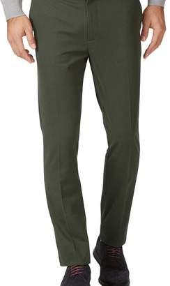 Charles Tyrwhitt Dark green extra slim fit flat front non-iron chinos