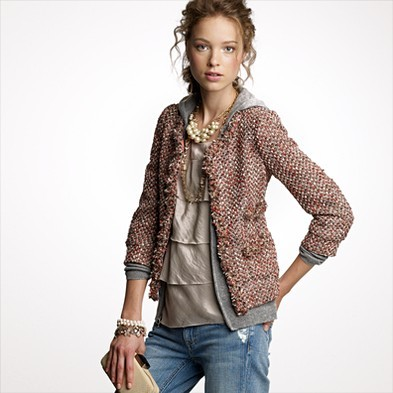 Blushed tweed collier jacket
