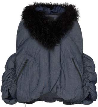 Angel Chen faux fur-collared jacket
