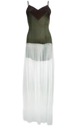 Juliana Herc Short-long Dress with Pleated Skirt