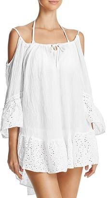 Ale By Alessandra Ibiza Gauze Eyelet Dress Swim Cover-Up
