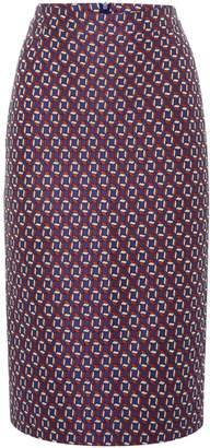 HUGO BOSS Jacquard print pencil skirt