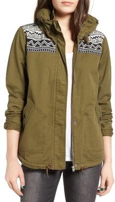 Women's Roxy 'Wintercloud' Print Denim Jacket $79.50 thestylecure.com