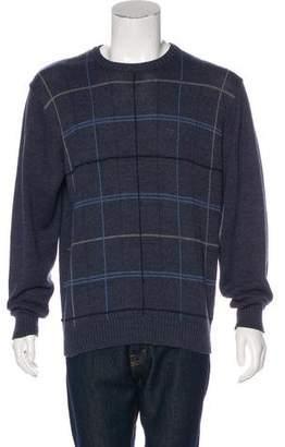 Oscar de la Renta Windowpane Sweater