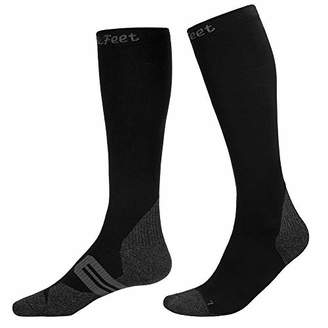 Toes&Feet Men & Women Antibacterial No Odor Compression Socks Graduated Stocking