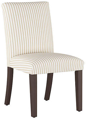 One Kings Lane Shannon Side Chair - Natural Stripe Linen