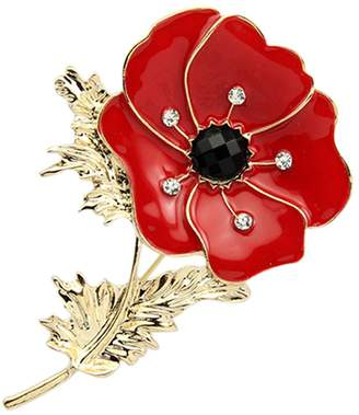 Love Dream Red Poppy Flower Pin Lapel Badge Banquet Enamel Remembrance Brooch Gift