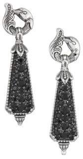 Konstantino Circe Sterling Silver& Black Spinel Drop Earrings