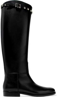 Valentino Rockstud Leather Boots