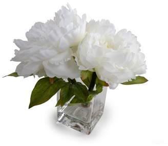House of Hampton Coral Peonies Floral Arrangement in Vase Flower