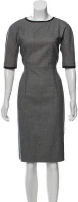 Les Copains Herringbone Midi Dress