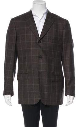 Isaia Plaid Wool Sport Coat