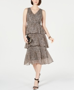 INC International Concepts I.n.c. Printed Tiered Midi Dress, Created for Macy's