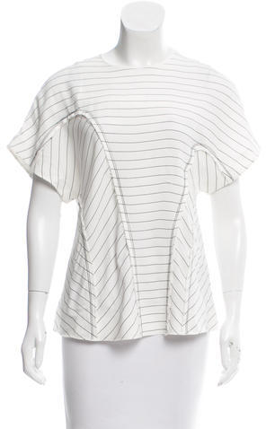 Alexander Wang Alexander Wang Striped Short Sleeve Top