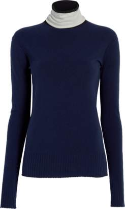 Sportmax Galli Contrast Neck Fitted Sweater
