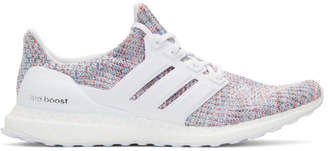 adidas White and Multicolor UltraBoost Sneakers