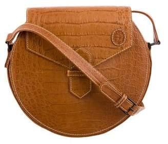 Trussardi Embossed Leather Shoulder Bag