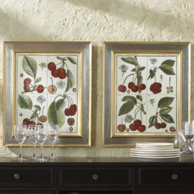 Cherry Quadrant Botanical Prints