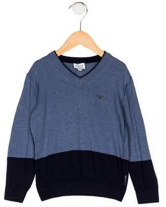 Armani Junior Boys' V-Neck Knit Sweater