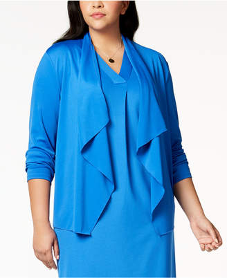 Kasper Plus Size Draped Blazer