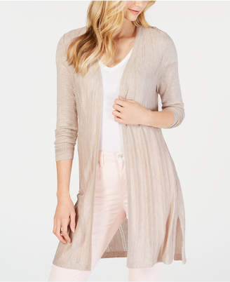 Charter Club Petite Pointelle Duster Cardigan