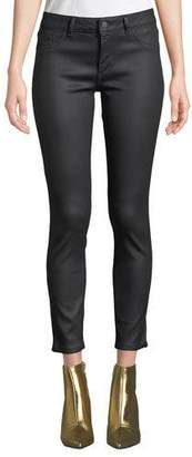 DL1961 Premium Denim Florence Ankle Mid-Rise Coated Skinny Jeans