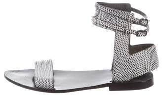 Alexander Wang Embossed Ankle Strap Sandals