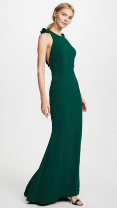 Badgley Mischka Ruffle Back Gown
