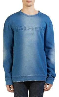 Balmain Embossed Ombre Crewneck Sweater