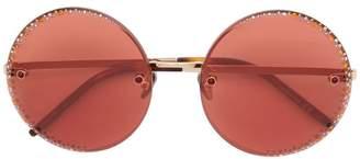 Pomellato Eyewear rhinestone embellished round sunglasses