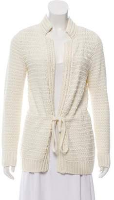 St. John Knit Tie-Front Cardigan