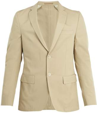 Officine Generale Single-breasted notch-lapel cotton-twill blazer