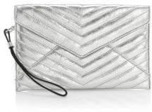 Rebecca Minkoff Quilted Leo Metallic Envelope Leather Wristlet