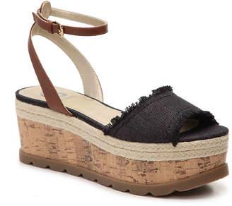 Women's Baker Flatform Sandal -Green Canvas $69 thestylecure.com