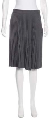 Milly Pleated Knee-Length Skirt